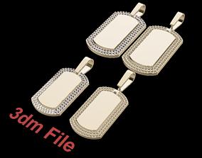 3D printable model Diamond ID Bar Dogtag Pendant Mix Size