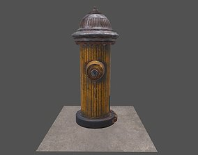 Fire Hydrant Low-poly 3D model dust game-ready
