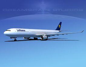 Airbus A330-300 Lufthansa 3D model