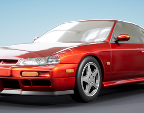 3D model Nissan Silvia S14 kouki Stock 200SX