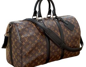 Louis Vuitton Bag Keepall Bandouliere 45 Monogram 3D model