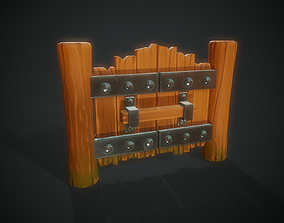 3D asset Stylized Gate - Tutorial Included