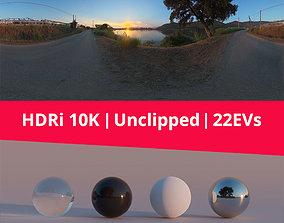3D model Hdri 88 Road Lake And Sunset