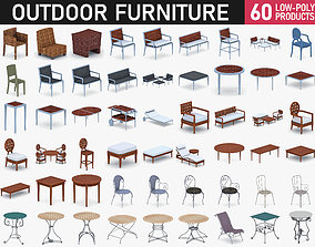 3D asset Outdoor Furniture Collection