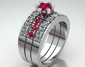 Jewelry Ring Women 3D printable model diamond-ring