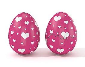 3D model Easter Egg Cracked N009
