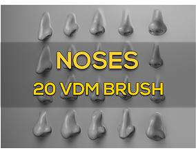 3D model NOSES - 20 VDM Brush for ZBRUSH