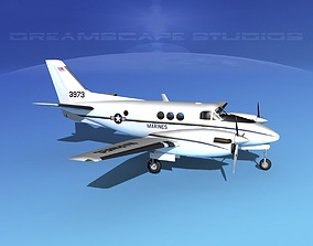 Beechcraft C-6 King Air V02 USAF 3D model
