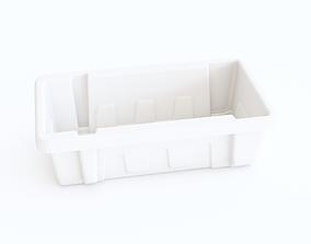 Plastic crate 18 3D model