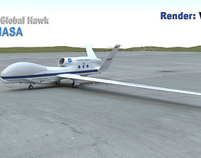 RQ-4A Global Hawk NASA 3D model