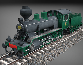 3D model Finnish steam locomotive Tk3-1105