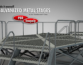 Galvanized Metal Stages 3D asset