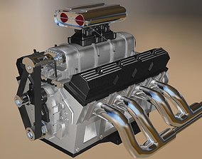 Custom Build V8 Engine 3D model