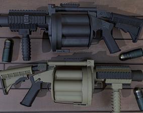 ICS-190 Grenade launcher 3D asset