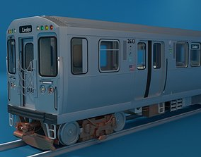 Chicago L Subway train with interior 3D model