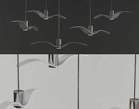 3D model chandelier Brokis Night Birds