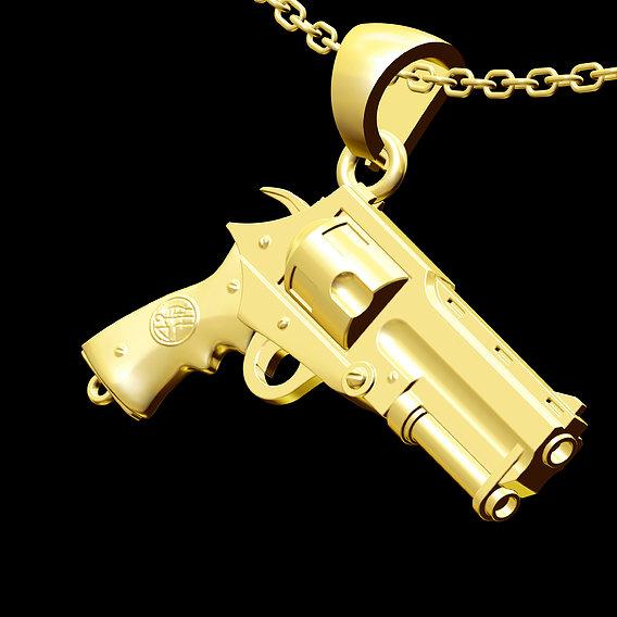 Hellboy Pendant jewelry Gold 3D print model