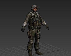 3D printable model modern usa soldier