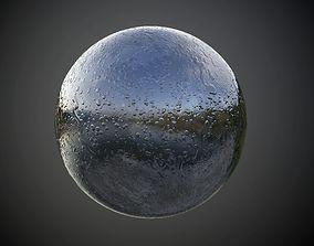 3D Metal Rain Drops Wet Seamless PBR Texture