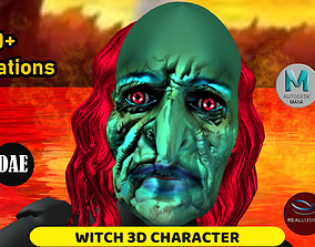 animated Witch 3D Character with Animation
