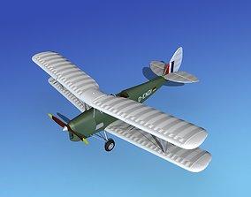 3D model Dehavilland DH82 Tiger Moth V10