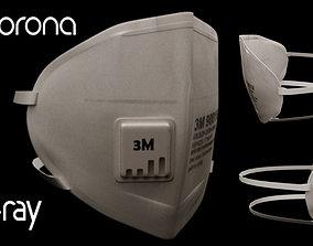 3M Surgical Mask - N95 Medical Face Mask 3D model