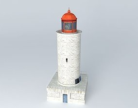 Small Stone Lighthouse 3D asset