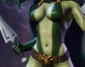 Gamora Model Statue STL