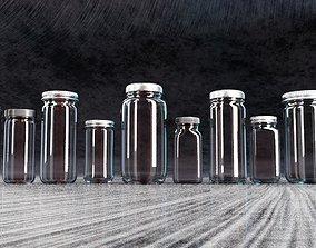 Spice Jar and Bottles 3D model