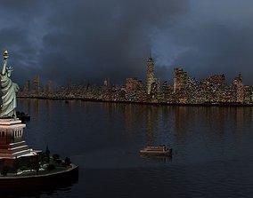 3D New York City Night midtown