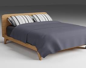 Modern Bed 3D asset