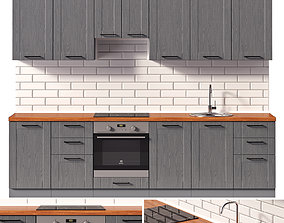 3D Kitchen ROYAL WOOD graphite