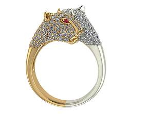 3D printable model Twin Leopard Ring