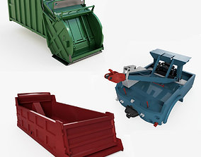 Industrial truck parts shape 3D model