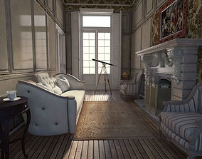 3D Neoclassical Apartment Interior