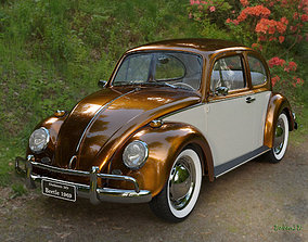 Golden Beetle Fusca 1969 3D model