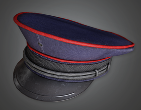 Military Hat 01 - HAT - PBR Game Ready 3D model realtime