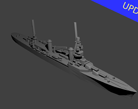 French Suffren Class Cruiser Warship 3D printable model