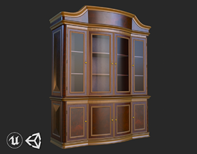 3D asset Vintage Furniture Cabinet PBR Game Ready