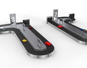 Two Side Airport Baggage Carousel Conveyor 3D model