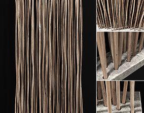 Planter fundament concrete thick branch n3 3D