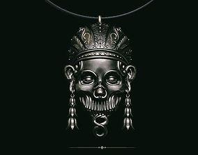 3D printable model Pendant skull aztec