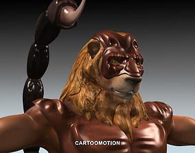 3D model VR / AR ready LION SCORPION HOROSCOPES
