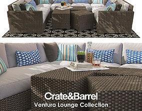3D Crate and Barrel Ventura Collection Set III
