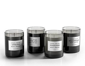Candle Perfumes Set 3D
