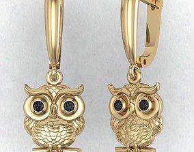 cad earring owl 3D print model