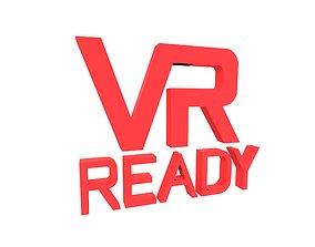 VR Ready Symbol v1 004 3D asset game-ready
