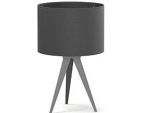 black Black Table Lamp 3D Model