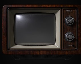 3D asset game-ready Old TV