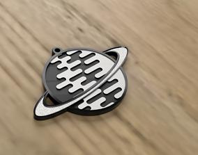 Saturn Keyring Badge 3D printable model